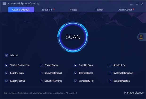 Advanced SystemCare Pro Crack With Serial key Free Download
